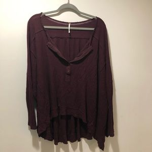 Free people oversized Henley top